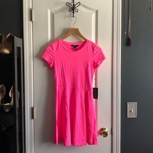 Forever 21 Bright Pink Shirt Dress. Size S. NWT.